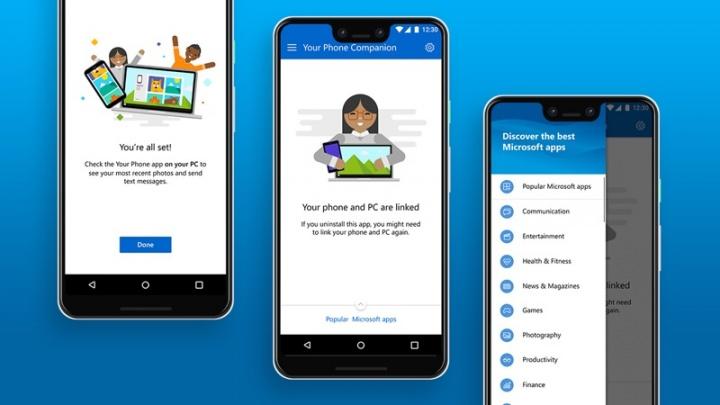 Windows 10 Android Microsoft Your Phone integração