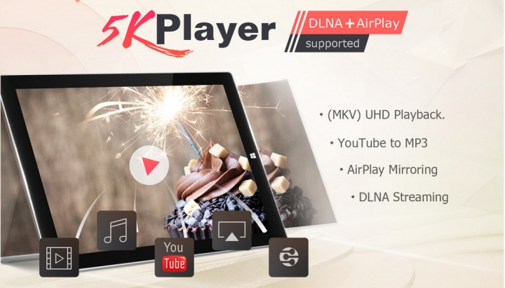 5KPlayer - provavelmente o leitor multimédia gratuito mais completo para Windows e macOS