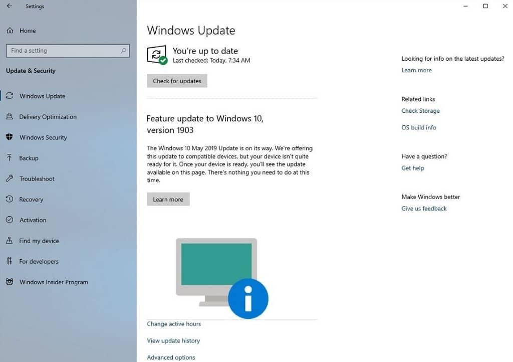 Windows 10 Microsoft atualização notificação bloqueada