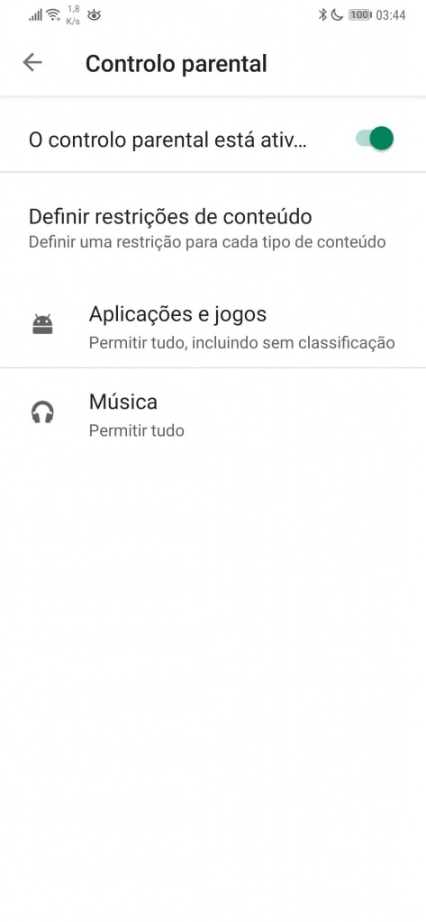 Android Play Store Parental Control Music Applications