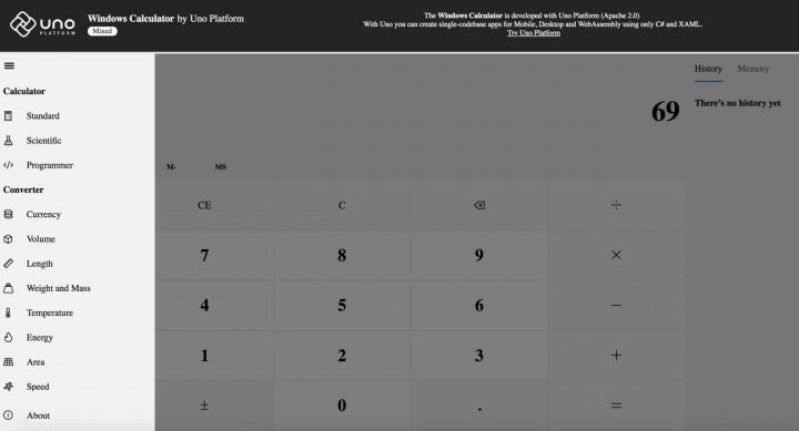 Calculadora do Windows já funciona na Web, Android e iOS