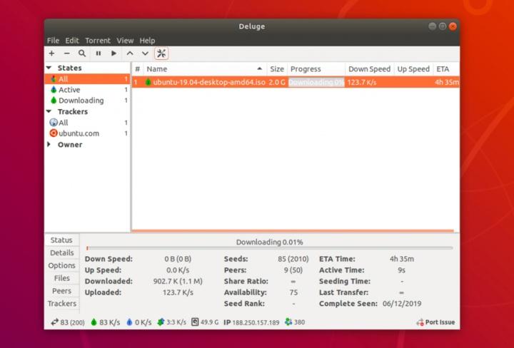 Precisa de sacar torrents? Experimente o novo Deluge BitTorrent 2.0