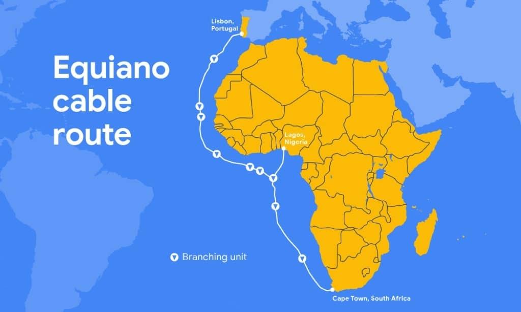 Google Portugal cabo submarino Equiano