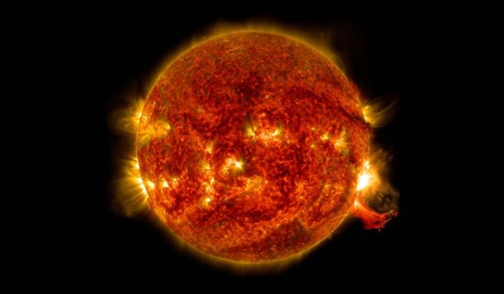 Imagem do Sol que poderá ter escondido na Lua a sua história