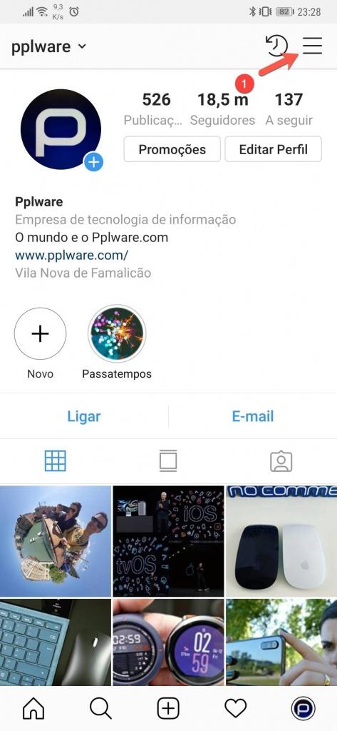 Instagram dados poupar fotografia