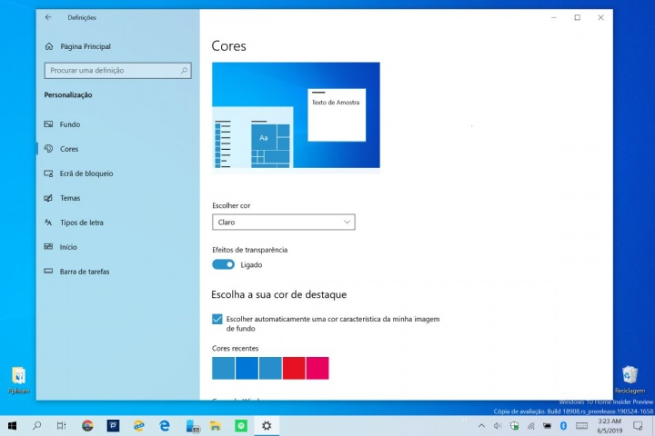 Windows 10 login blur desfocar ecrã