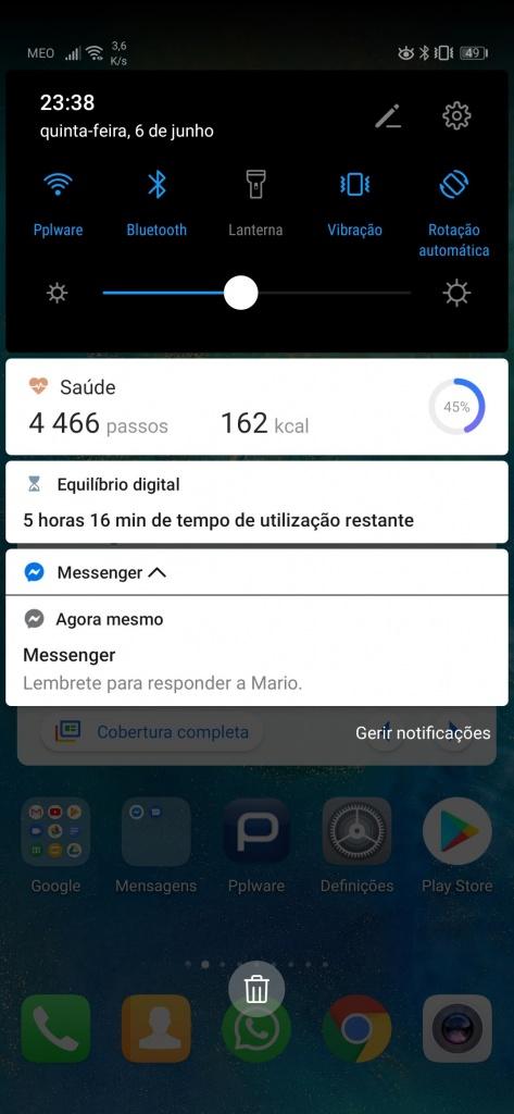Messenger Facebook notificação mensagem Android