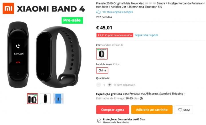 Xiaomi Mi Band 4 smartband Internet