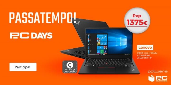 Passatempo Pplware/PcComponentes: Ganhe um portátil Lenovo com Intel Core i7