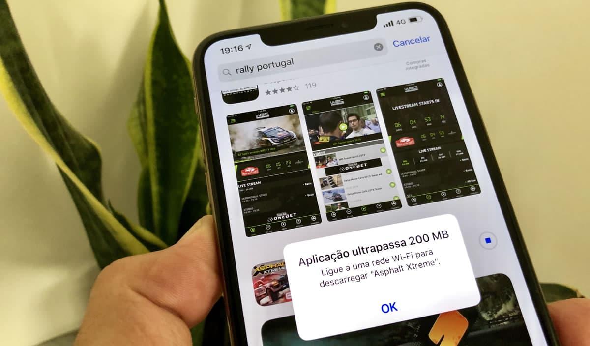 App Store: limite de download no mobile passa para 200 MB