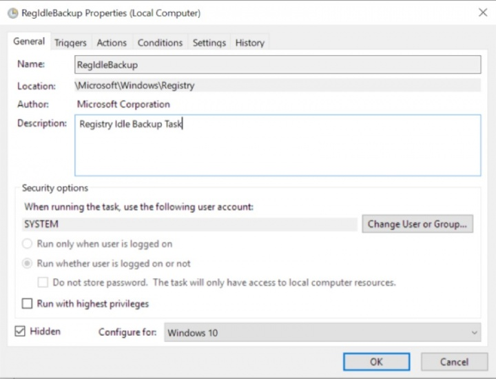 Windows 10 cópia registo Microsoft sistema