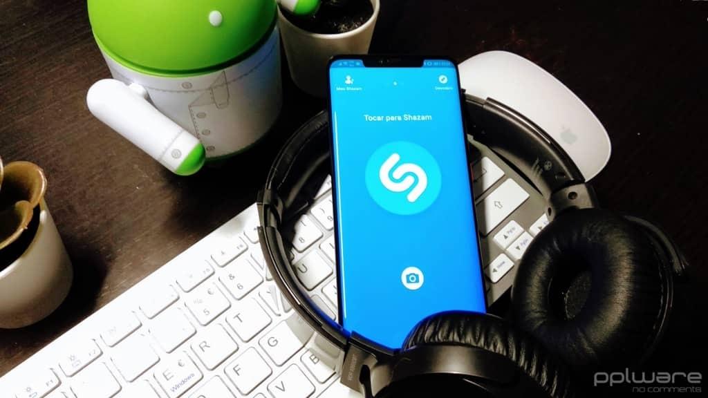 Shazam Pop up música auscultadores detetar