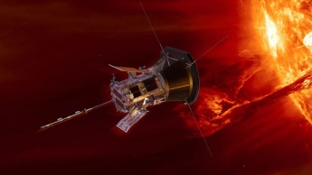 Imagem da sonda da NASA parker solar probe a vigilar o sol