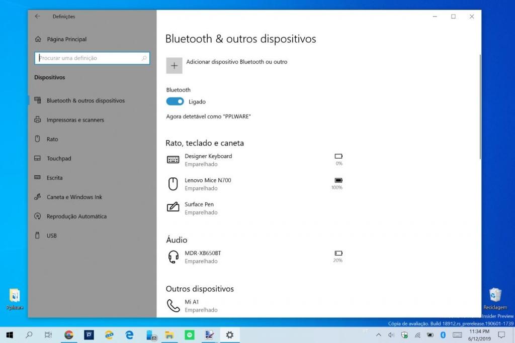 Windows 10 Bluetooth Microsoft atualização problemas