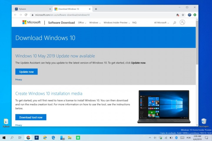 Windows 10 Microsoft browser enganar ISO