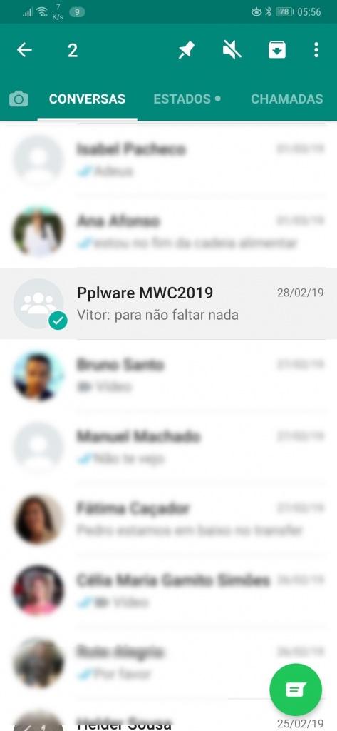 WhatsApp grupos notificações alertas mensagens