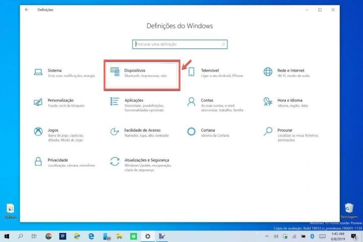 Windows 10 bateria bluetooth nível energia