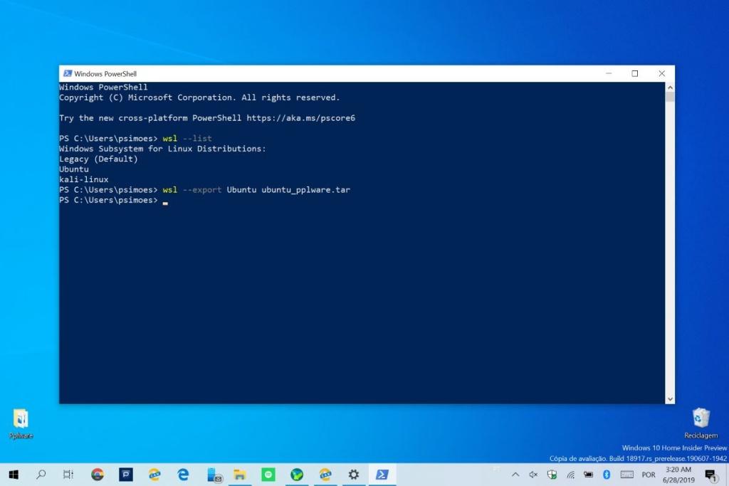 Linux Windows 10 exportar Microsoft distribuições