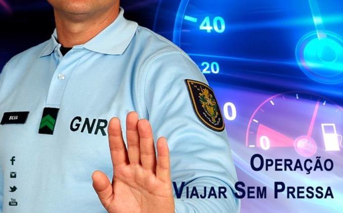 """Operação """"Viajar Sem Pressa"""" da GNR: Atenção ao excesso de velocidade"""
