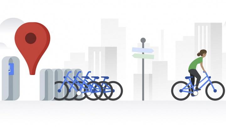 Google Maps bicicletas partilhadas bicicleta