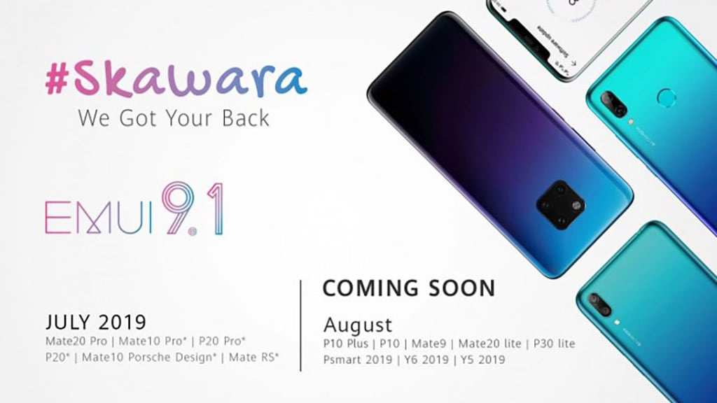 EMUI 9 1 chegará a mais 5 smartphones Huawei durante o mês