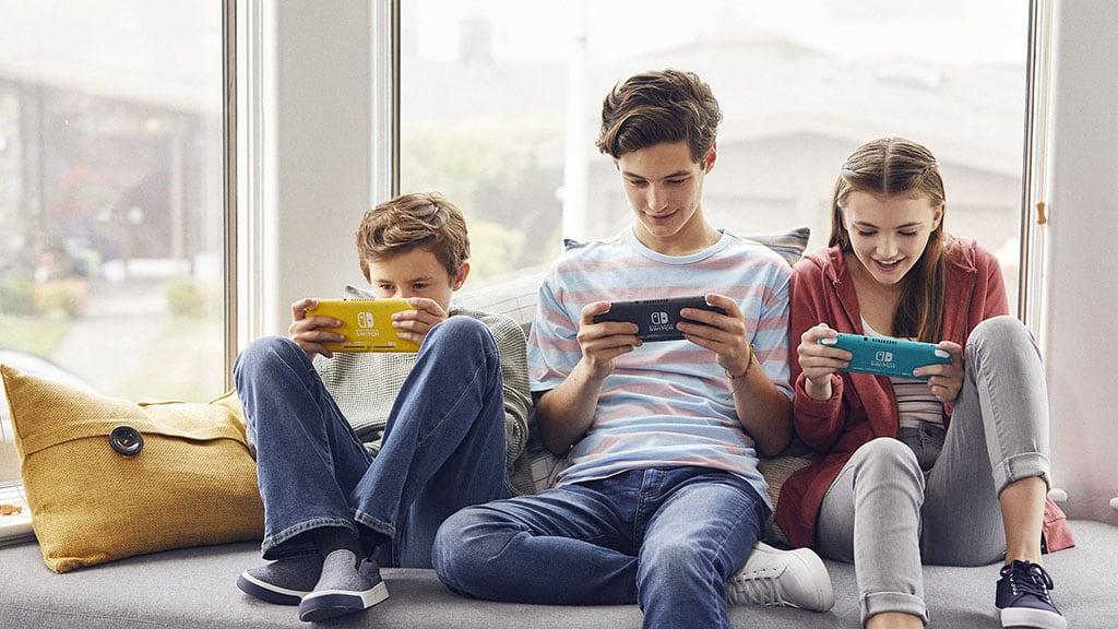 Nintendo Switch Lite consola jogos