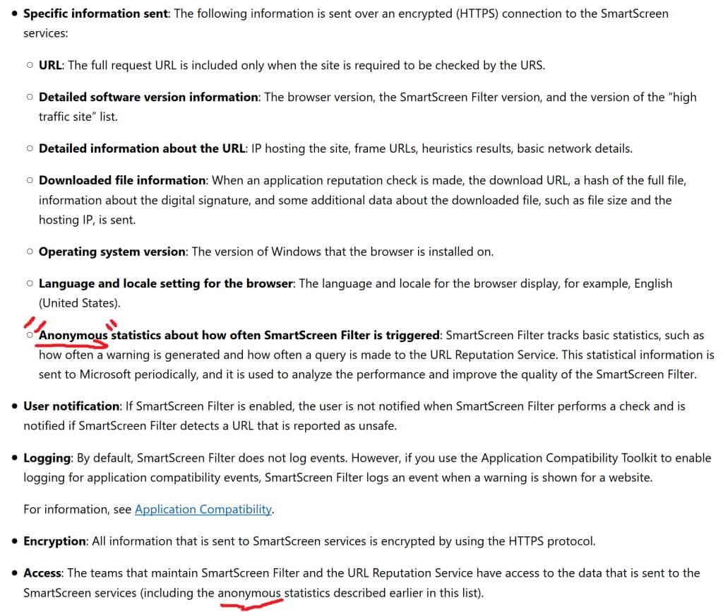 SmartScreen do Windows 10 envia para a Microsoft sites que o