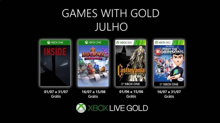 Games with Gold – julho de 2019 no Xbox Live