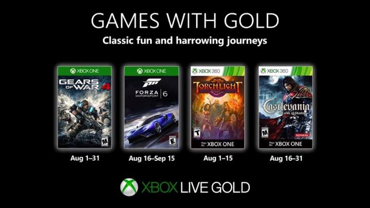 Games with Gold – agosto de 2019 com novos jogos no Xbox Live