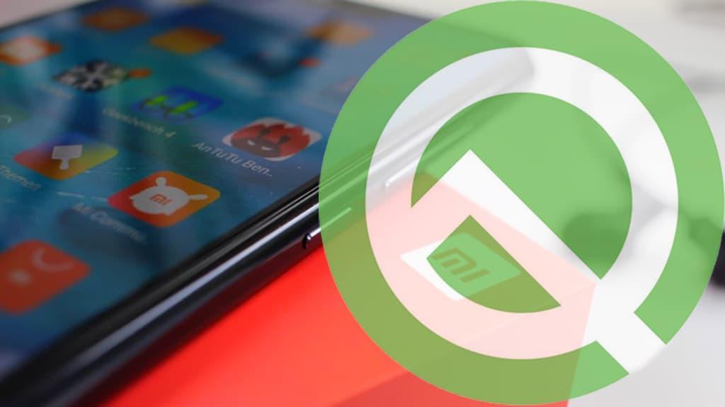 Xiaomi smartphone Android Q MIUI 10