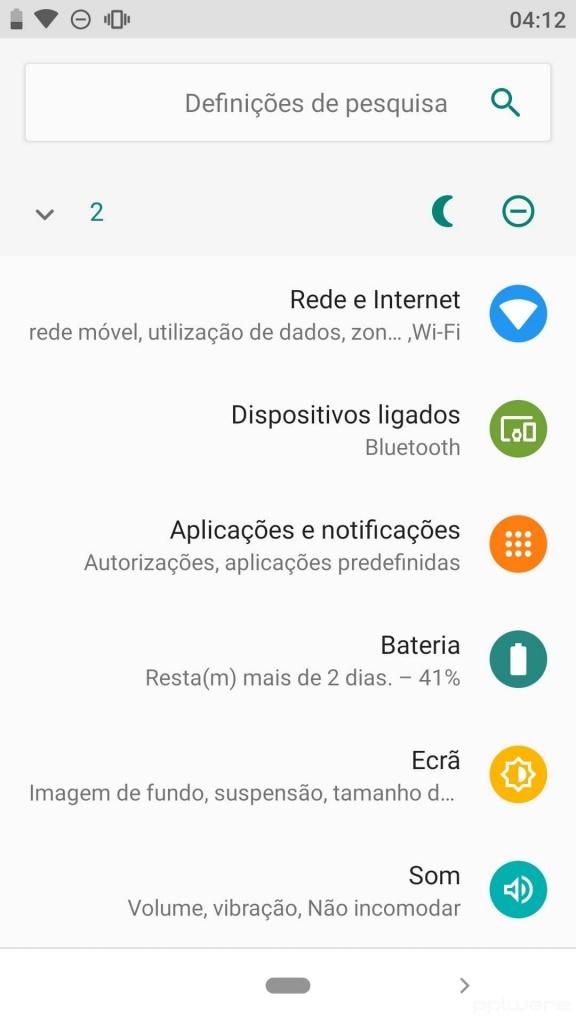 Android interface canhotos opções programador