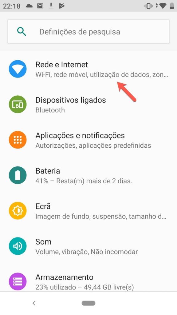 Android partilha Internet rápida 5 GHz