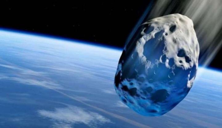 Imagem ilustração asteroide que se encaminha para a terra