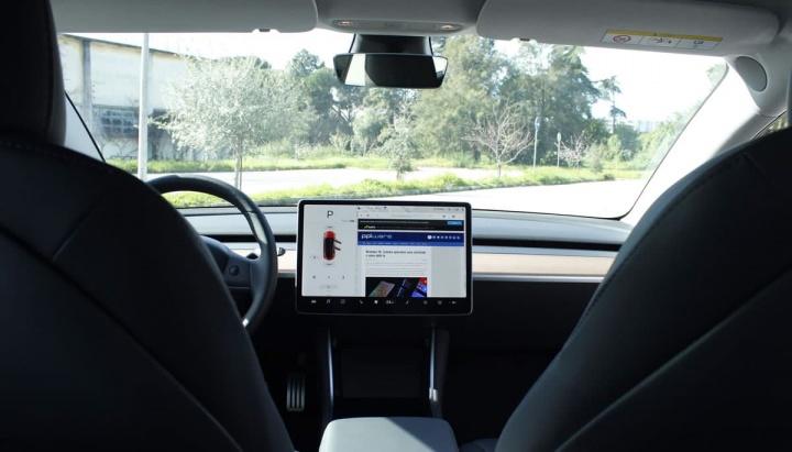 Imagem Tesla Model 3 com câmara interior inativa, como descreveu Elon Musk