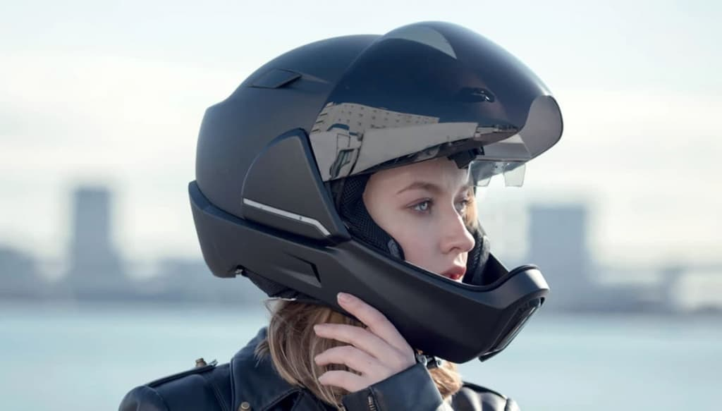 Imagem capacete inteligente Crosshelmet x1