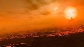 Imagem exoplaneta com 3 sóis capturado pelo telescópio TESS da NASA
