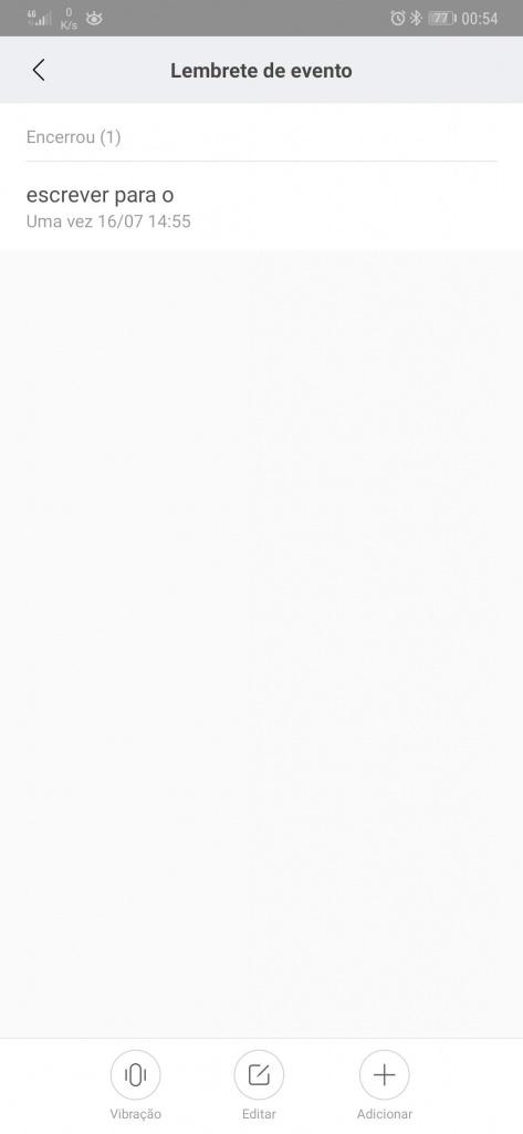 Mi Band Xiaomi smartband recordar tarefas
