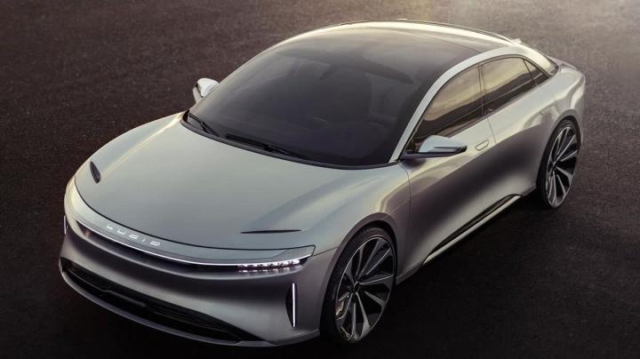 Imagem do Lucid Air da concorrente da Tesla no segmentos dos carros elétricos