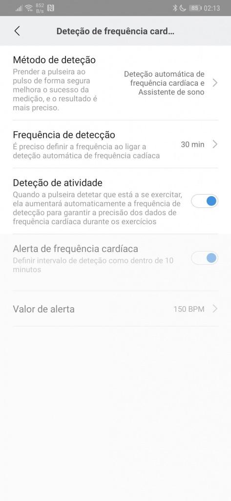 Mi Band smartband Xiaomi bateria poupar