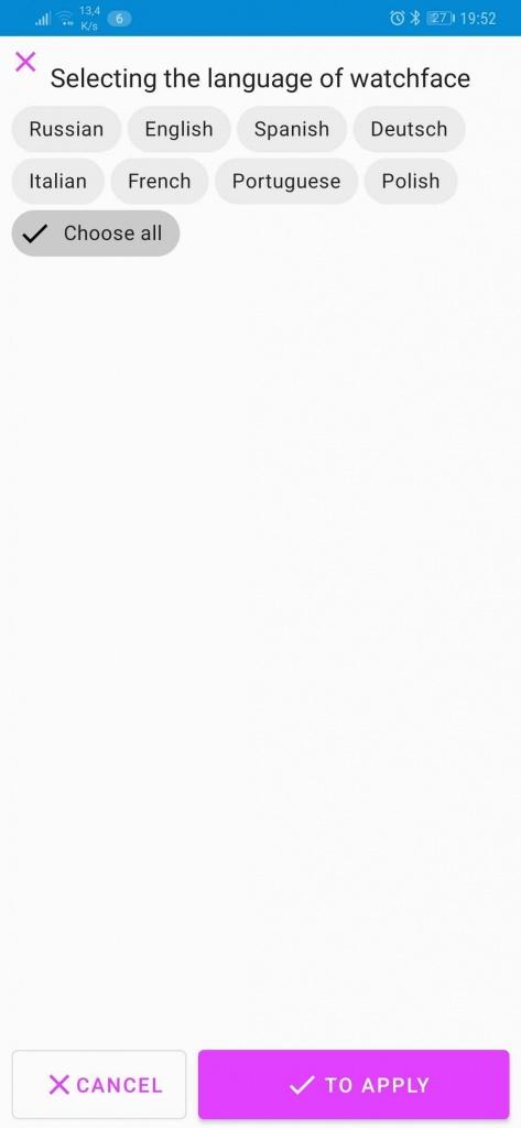 Mi Band relógio face Xiaomi aplicações