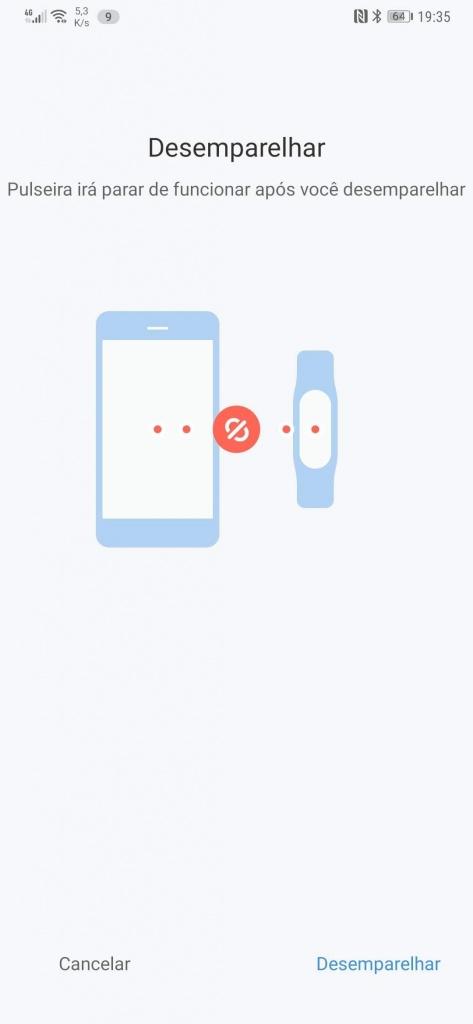Xiaomi Mi Band smartband nova desemparelhar