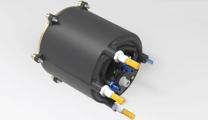 Imagem motor elétrico de plástico