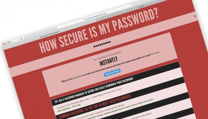 Imagem da plataforma que permite testar a sua senha, palavra-passe ou password