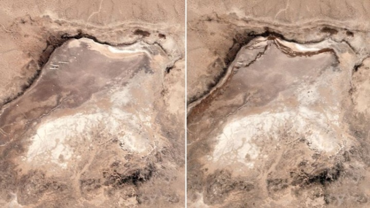Sismo de forte magnitude criou fissura na Terra (imagens de satélite)