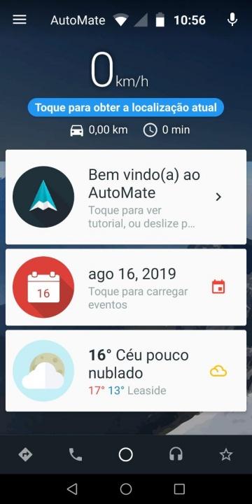 AutoMate app launcher android iOS carro automóvel