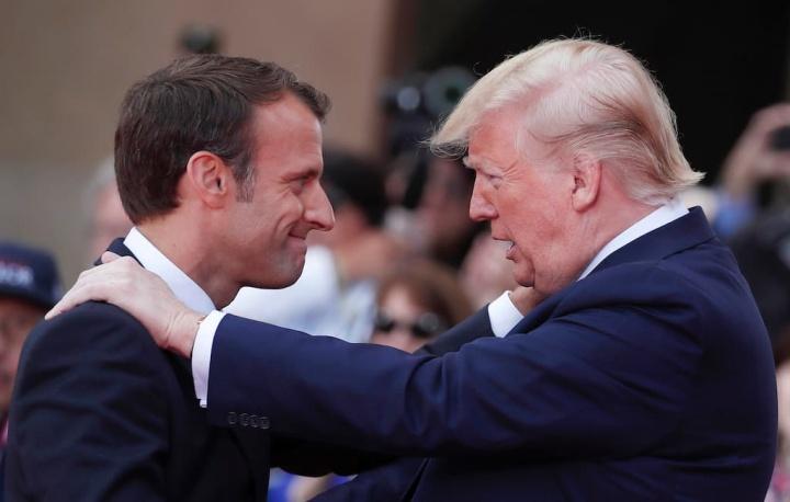 Emmanuel Macron Donald Trump EUA Google França Taxa GAFA