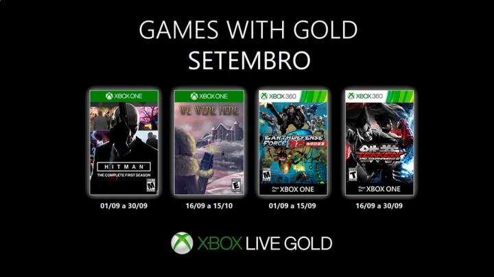 Games with Gold – setembro de 2019 com novos jogos no Xbox Live