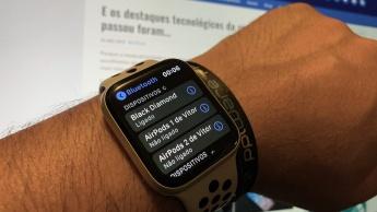 Imagem_Apple Watch ligado aos auscultadores Bose
