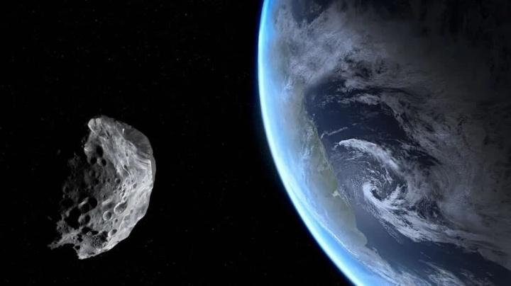 Imagem de astroide na rota da Terra