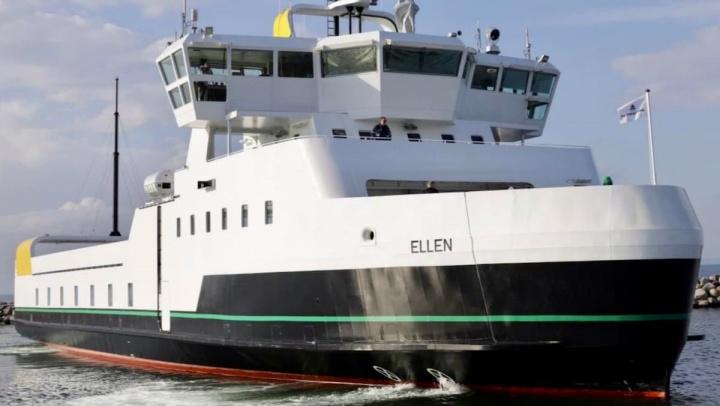 Imagem do ferry dinamarquês Ellen totalmente elétrico
